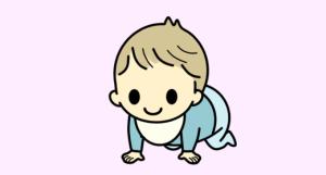 ハイハイする子供